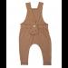 Organic suspender pants - Caramel