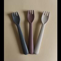 Bambus toddler gaffel 3-pk, farge: Fog/Beet/Ocean