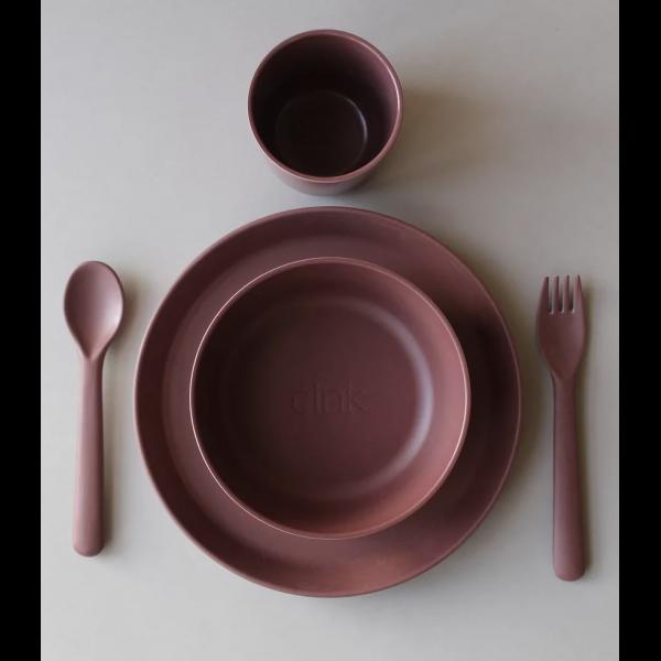 Spisesett til småbarn (toddlers) fra CINK, Farge: Beet