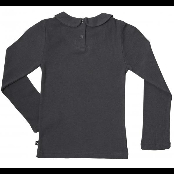 Basic Henley Long Sleeve Collar - Grå