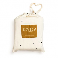 Organic Fitted Sheet Star - Vogn/krybbe