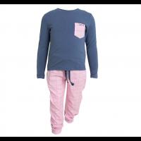 Tufte Kids Pyjamas - blå/rosa
