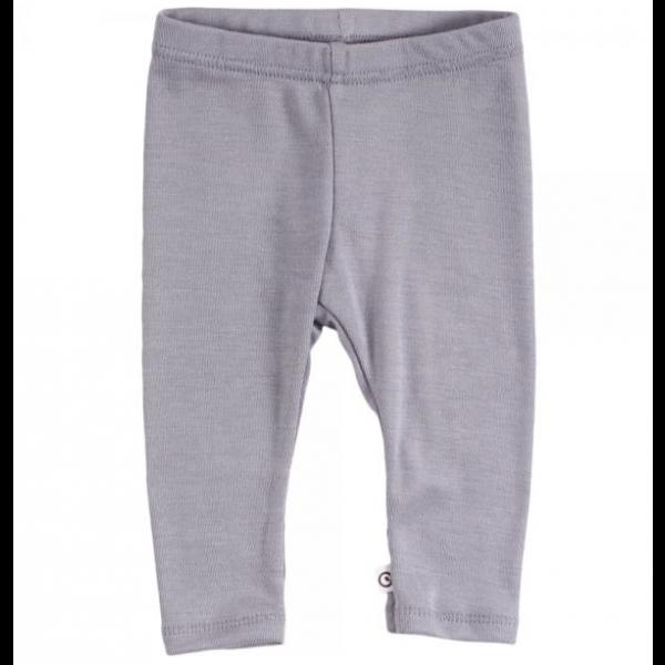 Woolly silk leggings - Shark/grey