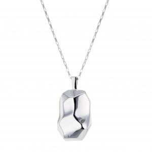 Hasla Elements Braque halskjede, sølv