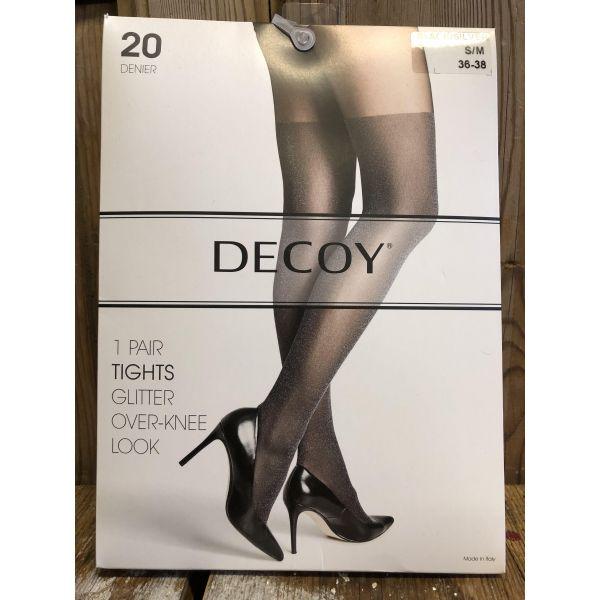 Decoy glitter over knee