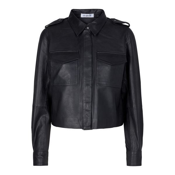 Cocouture Phoebe Crop Leather Shirt