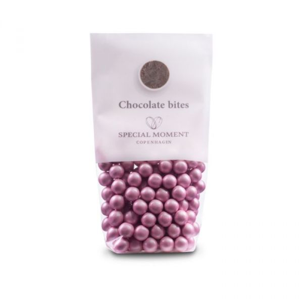 Sjokolade kuler - Rosa pearlecent 130g