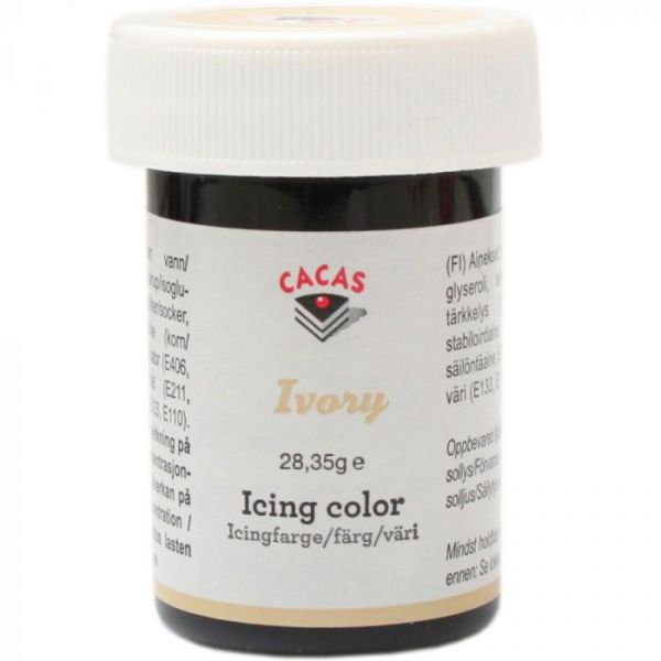 Icingfarge Ivory Cacas