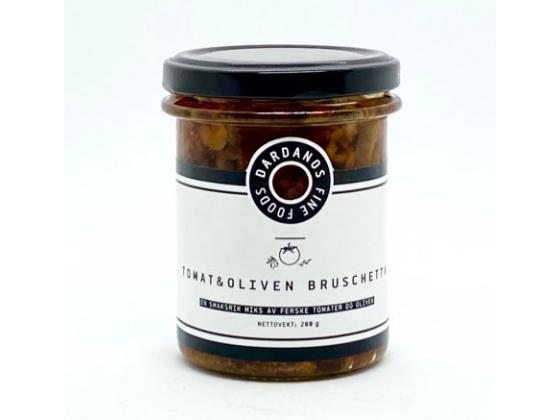 Dardanos tomat og oliven bruschetta