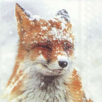 """Winter fox"" lunsjserviett"