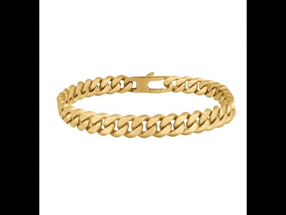 SON bracelet STEEL brushed - IPGold