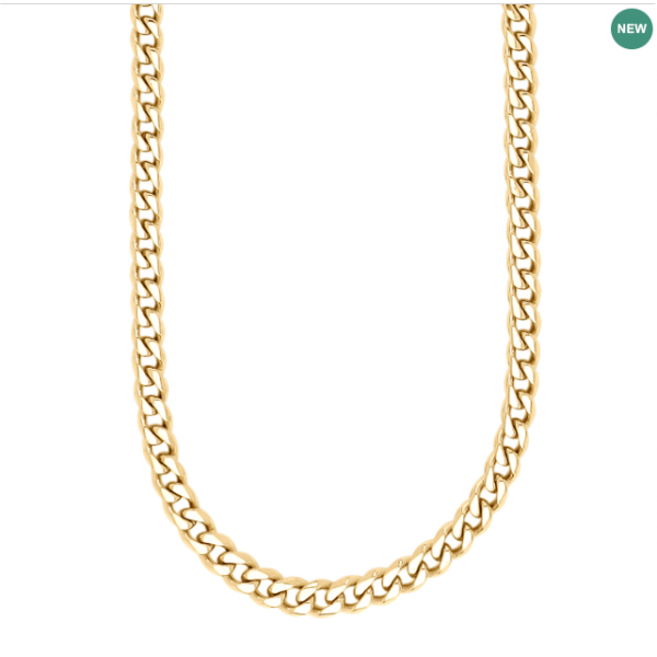 SON necklace STEEL shiny 60cm - IPGold