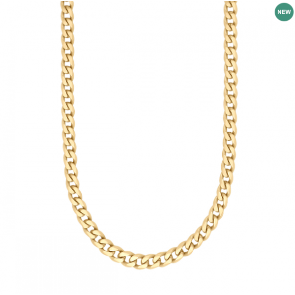 SON necklace STEEL brushed 60cm - IPGold