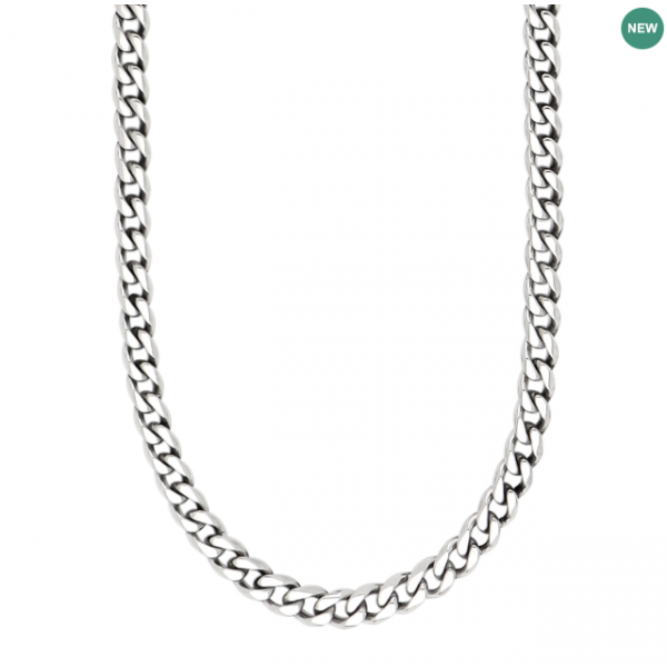 SON necklace STEEL shiny 60cm