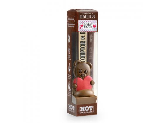 Mathilde sjokoladeskje med teddybjørn