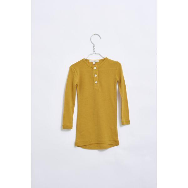Merino wool Grandad - Bright gold