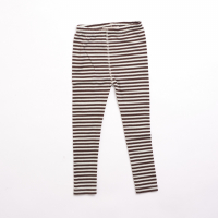 Tights Children - Stripes Nature/Dark brown