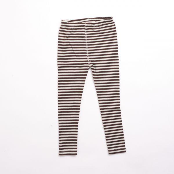 Tights Children - Stripes Nature/Dark brown