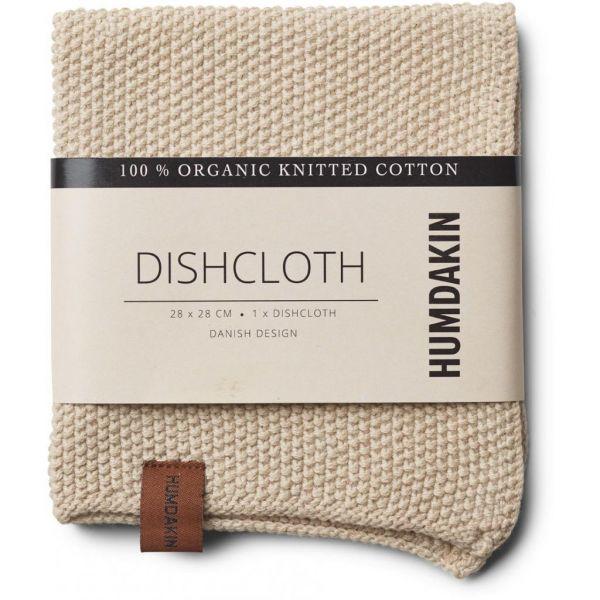 Knitted Dishcloth - Light Stone