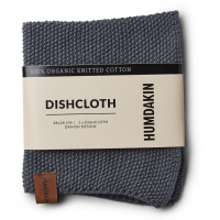 Knitted Dishcloth - Dark Ash