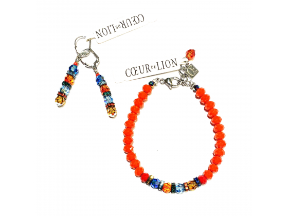 COEUR DE LION - Multicolor armbånd og ørepynt