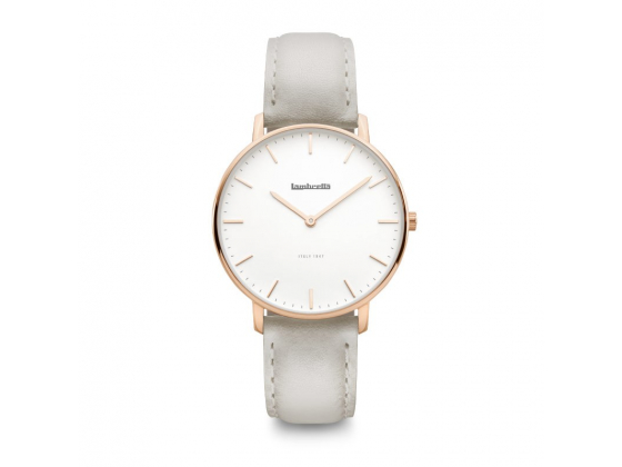 Classico 36 Rose Gold White Leather Grey