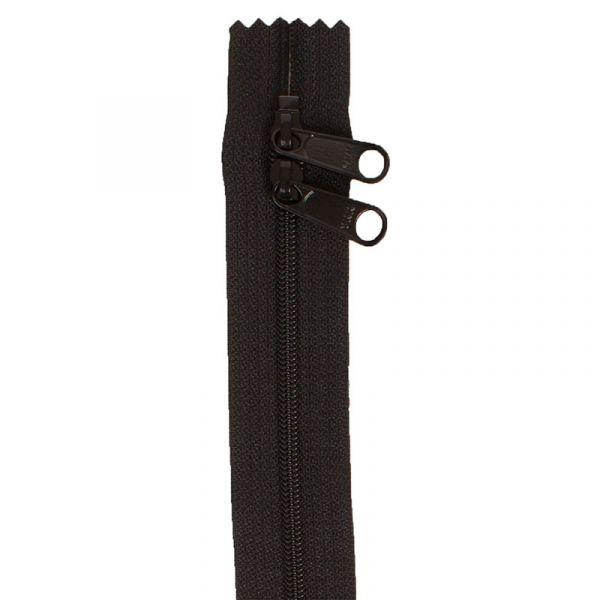 Glidelås sort 30 inch