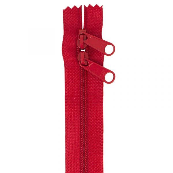 Glidelås rød 30 inch