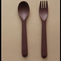 Bambus toddler bestikk, gaffel & skje (BEET)