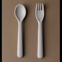 Bambus toddler bestikk, gaffel & skje (FOG)