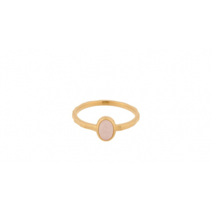 Shine ring rose quartz