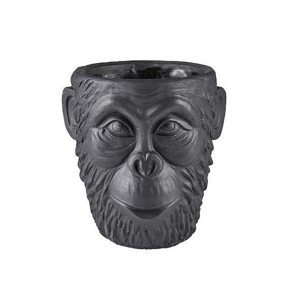 Gorilla potteskjuler sort stor