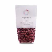Sukkerhjerter, bordeaux rød