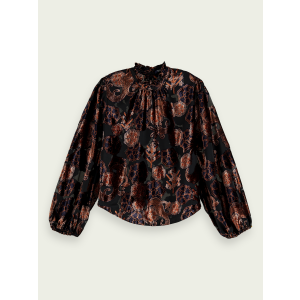 Top in Printed sheer Velvet
