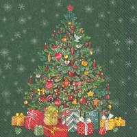 """Festive Christmas Tree"" green lunch"