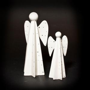 Engel Porselen Hvit M/Stjerner Liten 18C