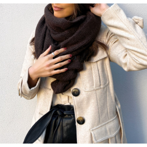 Linna Knit Scarf - Coffee Bean/Melange