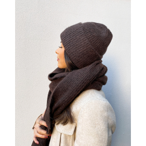 Linna Knit Beanie - Coffee Bean/Melange