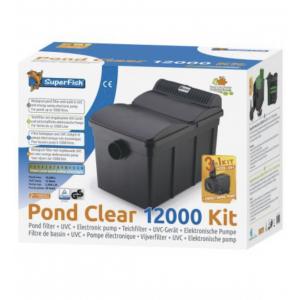 Pondclear 12000 filtersett med pumpe og 13w uvc