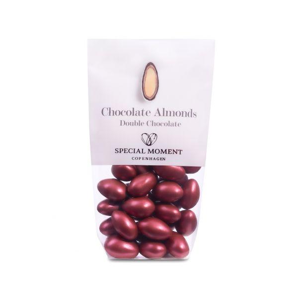 Mandel m/sjokolade, bordeaux rød