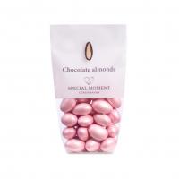 Mandel m/sjokolade, lyserosa, kirsebærsmak