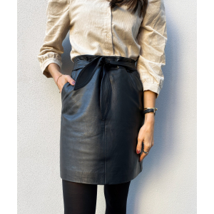 Monroe Leather Skirt