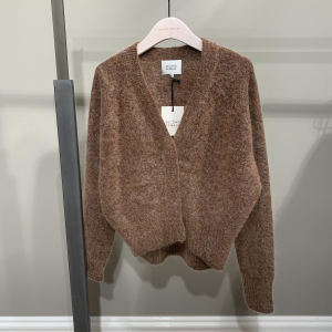 Brook Knit Boxy Cardigan Brown