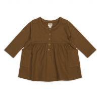 Organic pocket dress - caramel