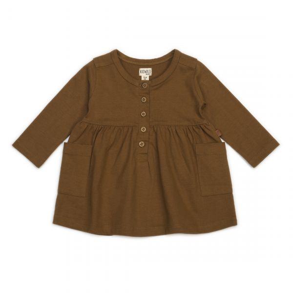 Organic pocket dress - caramel