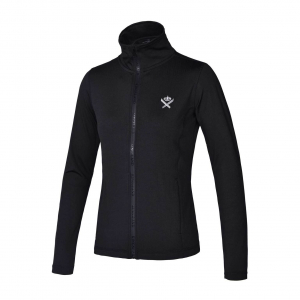 Kingsland Sariah fleece jakke svart og navy