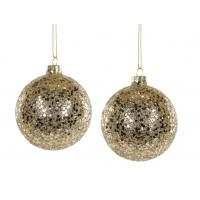 Julekule gull og glitter sett m/ 4 stk