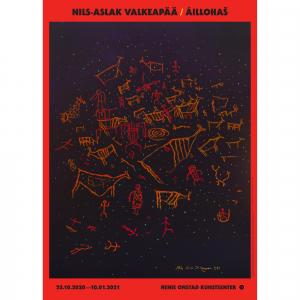 Nils-Aslak Valkeapää / Áillohaš,  Nama haga / Untitled, 1991. 70 x 50 cm
