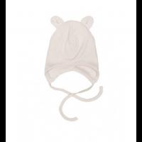 Baby lue med ører - Hvit/beige