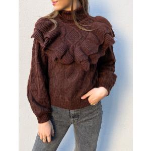 Choko Knit Pullover - Rum Raisin